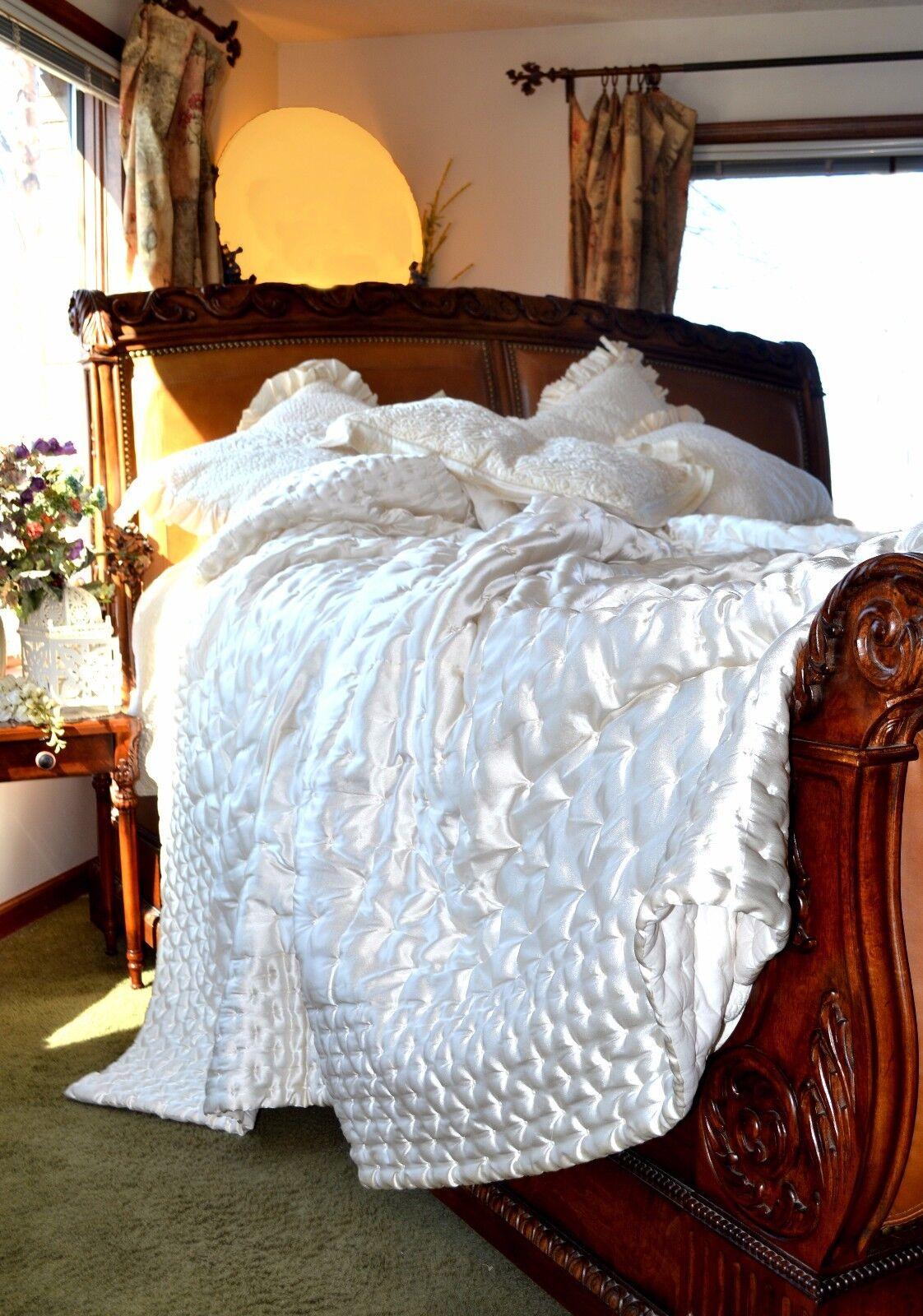 Soft Surroundings Adagio Comforter Ivory Ivory Ivory King Orig  219 6bbab6