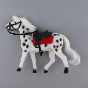 1//12 Realistic Miniature Horse Animal Pets Dollhouse Garden Decor White