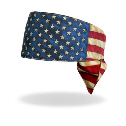 Sublimation Distressed American Flag Road Wrap Head Band