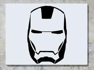 Iron Man Head Mask Marvel Avenger Super Hero Wall Decal Art Sticker Picture Ebay