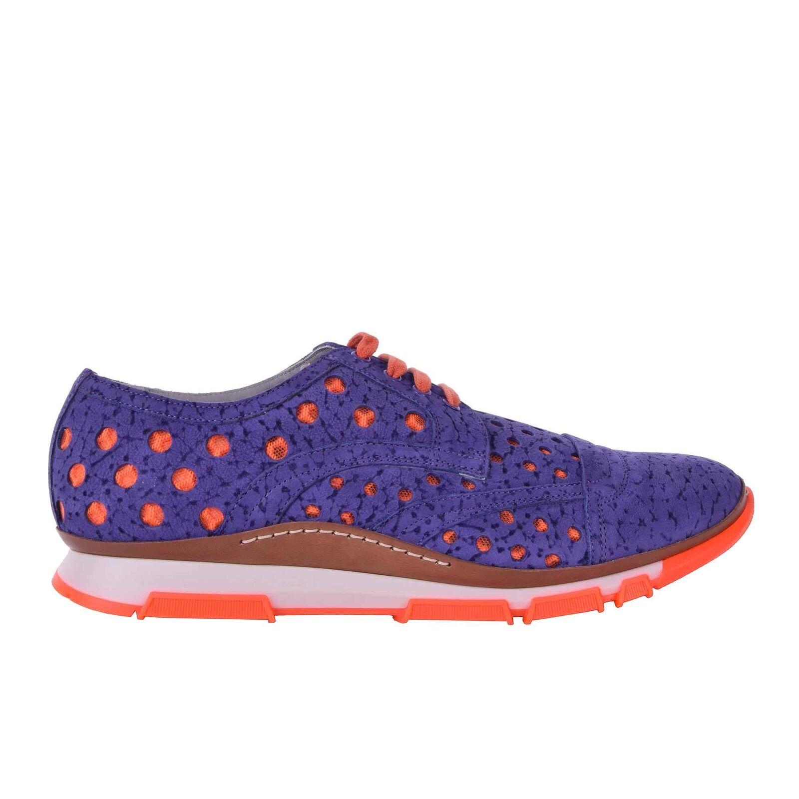 DOLCE & SCILLA GABBANA Perforierte Wildleder Zapatos Sneakers SCILLA & Lila Sneaker 05919 9bb1e5