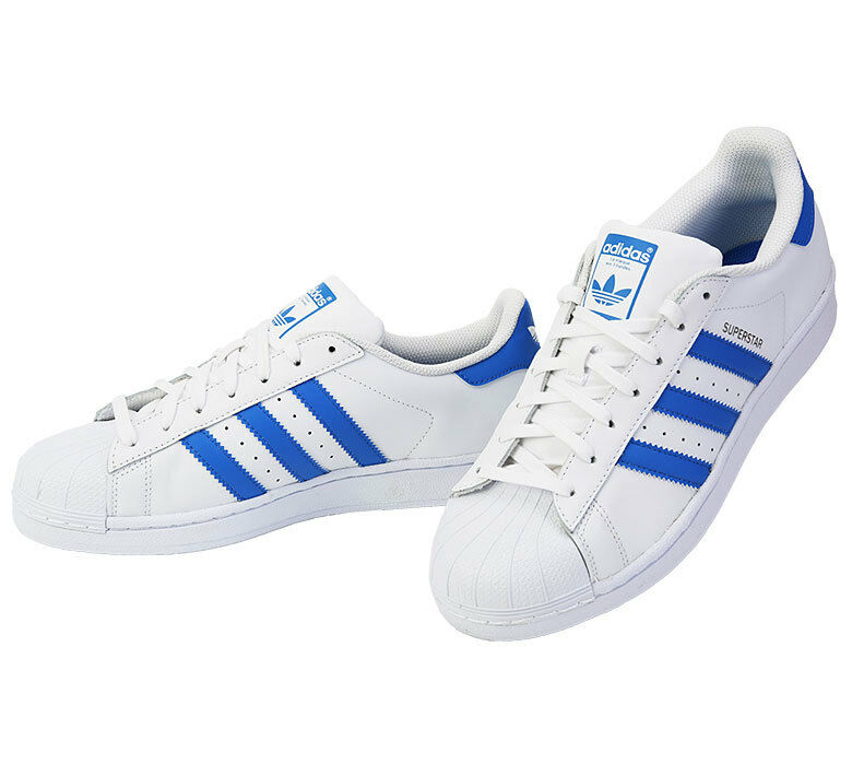 Adidas Original Superstar S75929 Sneakers Shoes Skate Board blanc bleu