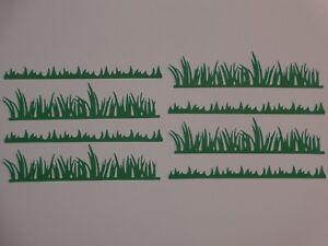 """8 grass borders 5/"""" width die cuts greeting card die cut"""
