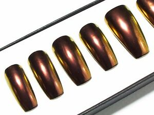 Chrome-Colour-Shifting-Chameleon-Fake-False-Glue-Press-On-Gel-Acrylic-Nails-Set