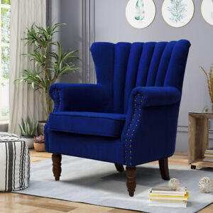 Occasional Miniature Sofa Chair Wing Back High Back Fabric ...