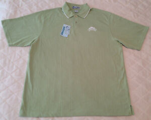 0acd2b4af NWT TURKEY HILL POLO SHIRT Light Green Casual Golf Extreme S/S Knit ...
