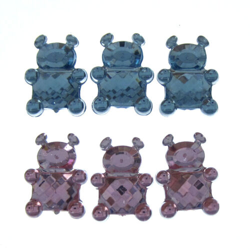 100 Small Acrylic Bear Crystal Rhinestones Faceted Craft Table Scatter Game Deco