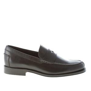 4ba17466749 TOD'S men shoes Black semi-glossy leather penny loafer ...