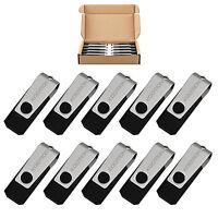 Lot 10/20/100 Black 2gb Storage Flash Drives Memory Thumb Sticks Pen Drive Gifts