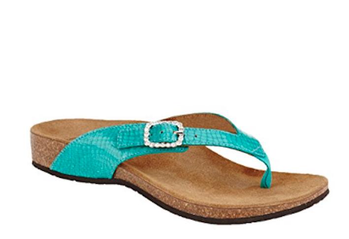 Vionic ISABEAL para mujer verde azulado Toe Post Ortopédico Sandalia Talla UK 3 EU 36