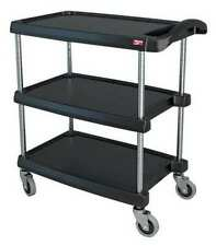 Zoro Select My1627 34bl Polymer Shelf Utility Cart With Lipped Plastic