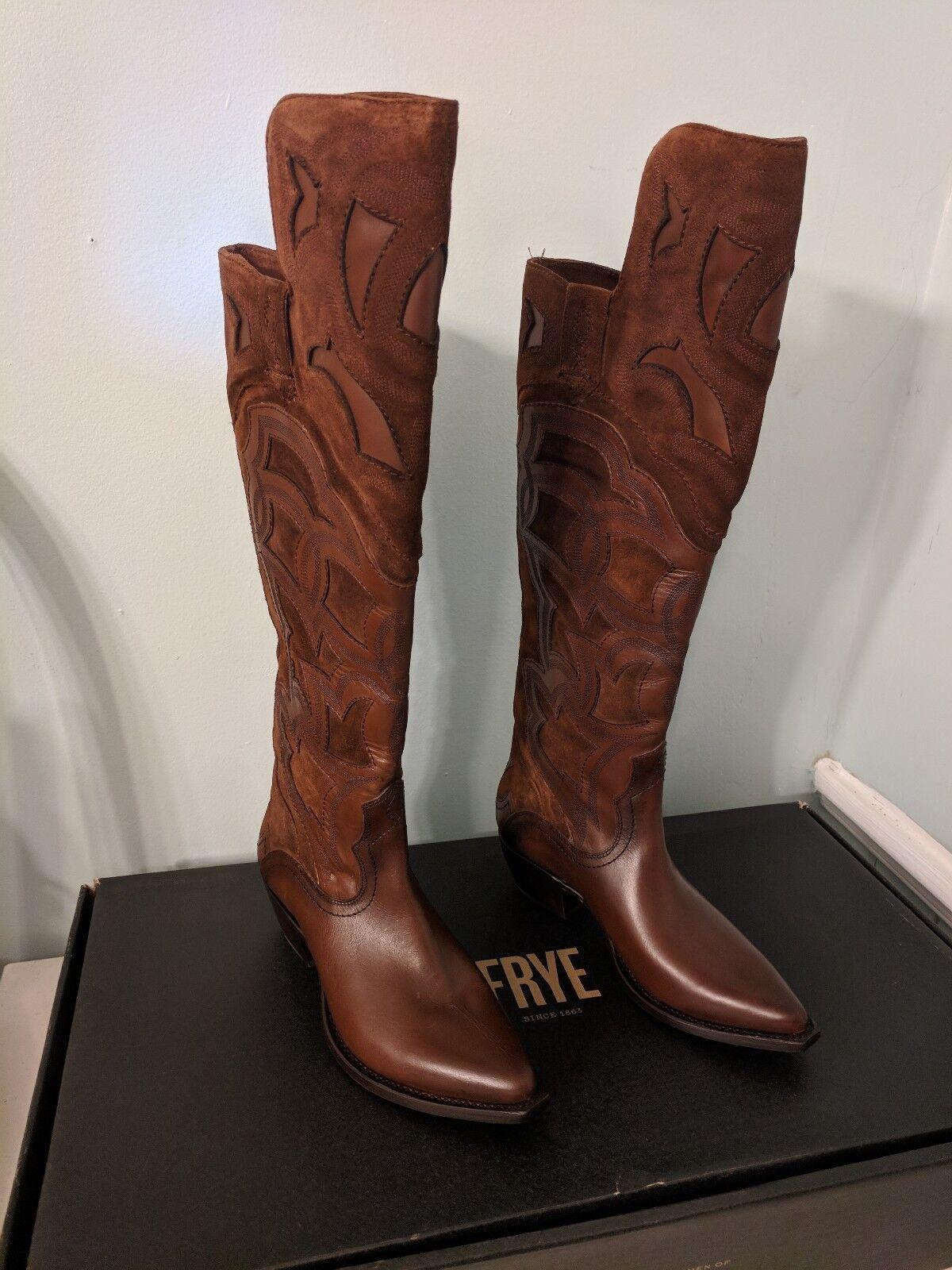 negozio outlet     FRYE Donna  Shane Embroidered Cuff Western avvio WISKEY Marrone OTK 7.5 M SEXY    punto vendita