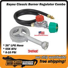 LPG Propane 40 PSI 210K BTU Regulator Burner Combo Homebrew Outdoor Boils Frying