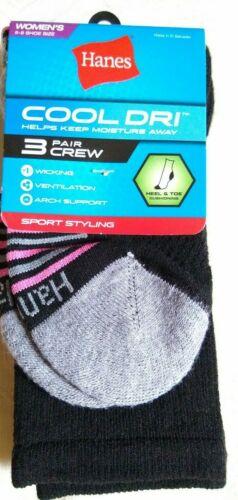 3 Pack Soft Comfort Crew Socks Hanes Women/'s 4-Pack 5-9 Size