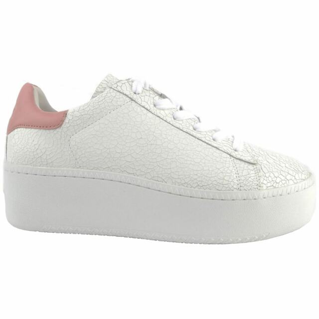 aaef629bf49f6 Ash Cult White Blush Womens Leather Platform Lace-up Low-top Sneakers  Trainers