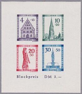 Baden-Block-Mi-Nr-1-B-postfrisch