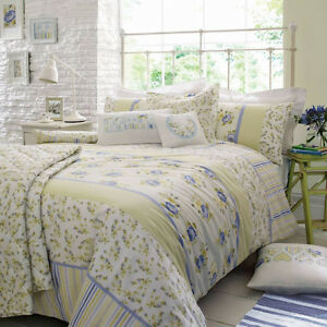 Henrietta lemon bedding duvet cover kirstie allsopp home for Living room quilt cover