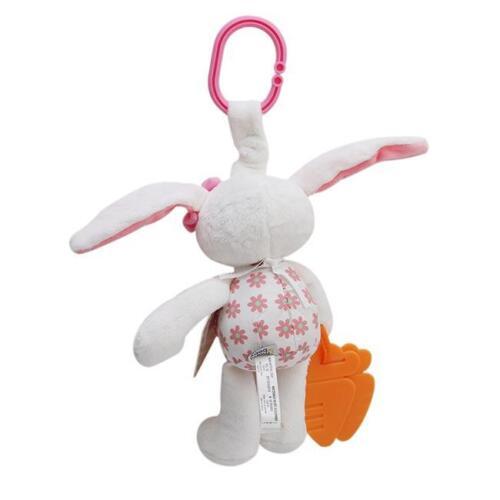 Cot Pram Hanging Rattles Stroller/&Car Seat Toy Hand Bell Plush Rabbit Animal N7