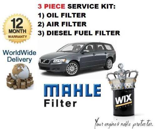 /& GT 3 pièce service kit huile air carburant filtre Pour VOLVO V50 2.4 D D5 Diesel 2006
