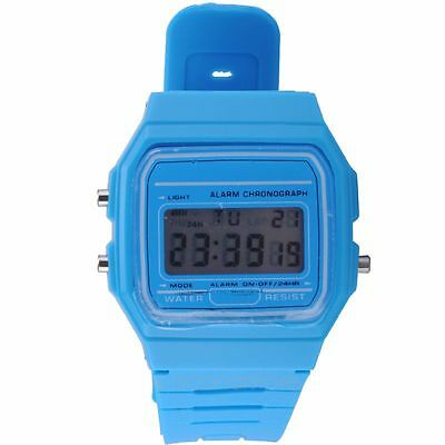 LCD Digital Rubber Jelly Day Date Alarm Stopwatch Sports Wrist Watch HOT SELL