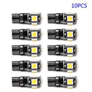 10x-6500k-White-Canbus-Error-Free-Car-T10-W5w-168-2825-Led5-Smd-Wedge-Light-Bulb