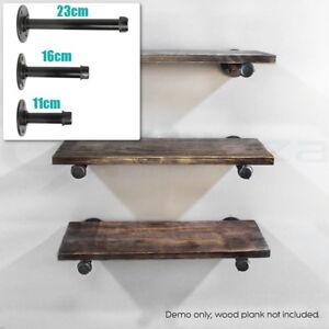 3 sizes iron industrial pipe shelf brackets with screws shelf support 11 23cm ebay. Black Bedroom Furniture Sets. Home Design Ideas