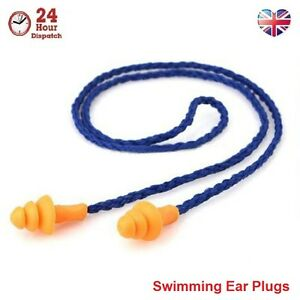 Hypo-allergenic Earplugs for Swimming 1-5 PCS Silicone Ear Plugs with String