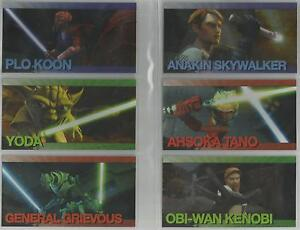 Star-Wars-Clone-Wars-Widevision-034-Foil-Character-034-Set-of-20-Chase-Cards-1-20