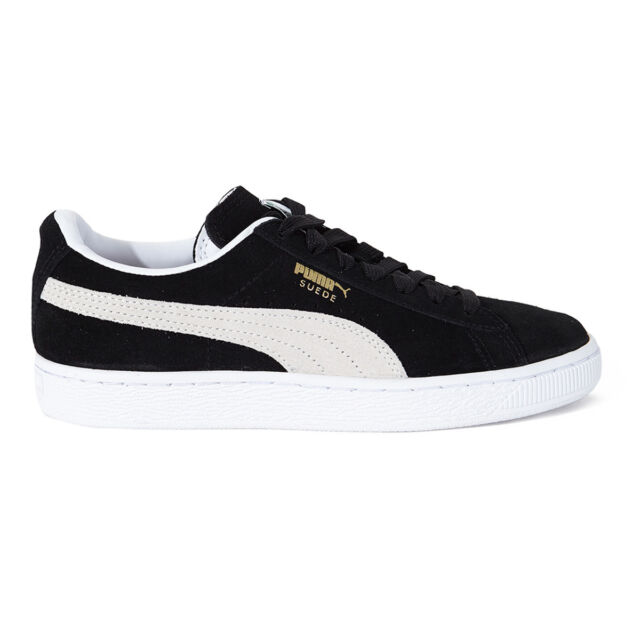 Womens PUMA Black Suede Lace up