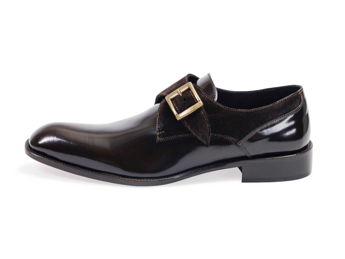 Composite Composite Composite Single Buckle Calf Leather Monks Mens schuhe.100% Leather Made In  ef0a0c