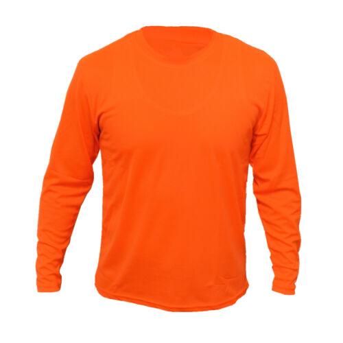 Hi Vis T Shirts High Visibility Safety Work Neon Orange Sports Wear Long Sleeve
