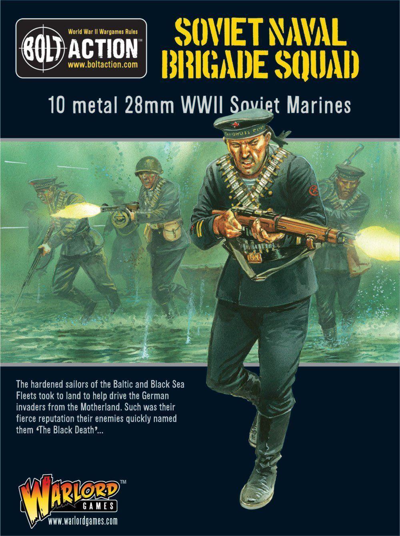 Krigsherre spel sovjetiska flottans brigader 28mm Sovjetunionens Bolt Action Navy