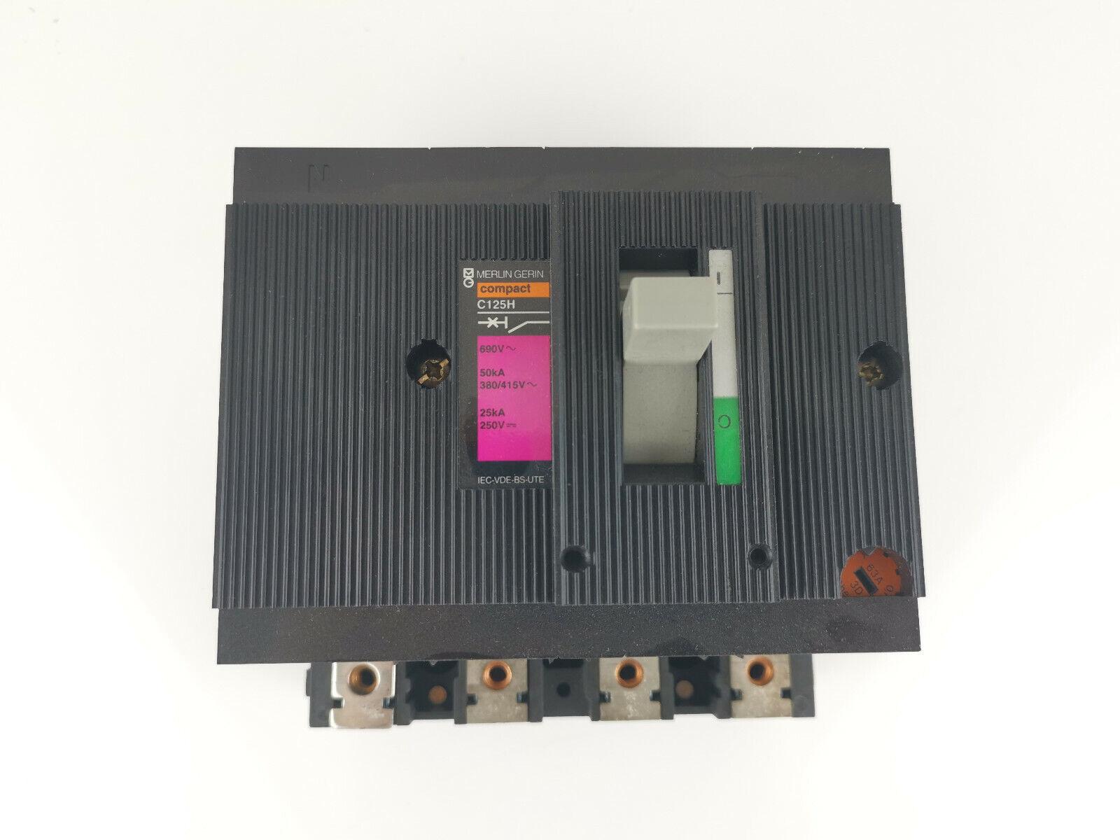 Image 31 - Merlin Gerin Schneider C125H 63A Power Switch 41379