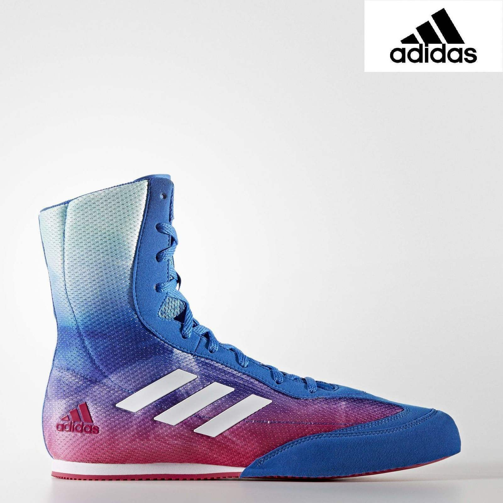 ADIDAS  - Box Hog Plus Boxing Boots bluee Pink  large selection