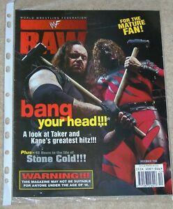 WWF-MAGAZINE-RAW-DECEMBER-1998-WRESTLING-KANE-UNDERTAKER-COVER-WWE