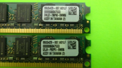 Dell Certified Memory 2GB DDR2 800MHz PC2-6400 Memory SNPYG410C//2G LOT OF 2
