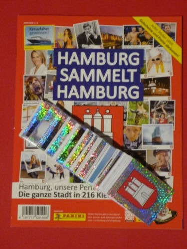komplett alle 216 Sticker Album RAR Panini Hamburg sammelt Hamburg 1