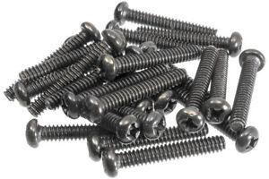 24-Pack-Pickup-Switch-Screws-Black-fits-Fender-Strat
