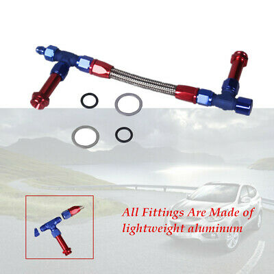 Aluminum 8 AN Holley 4150 Dual Feed Fuel Line Kit Carb Fittings Braid AN8