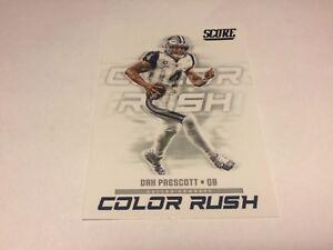 pretty nice 2cb88 b8686 Details about 2018 Score Color Rush #13 Dak Prescott Dallas Cowboys