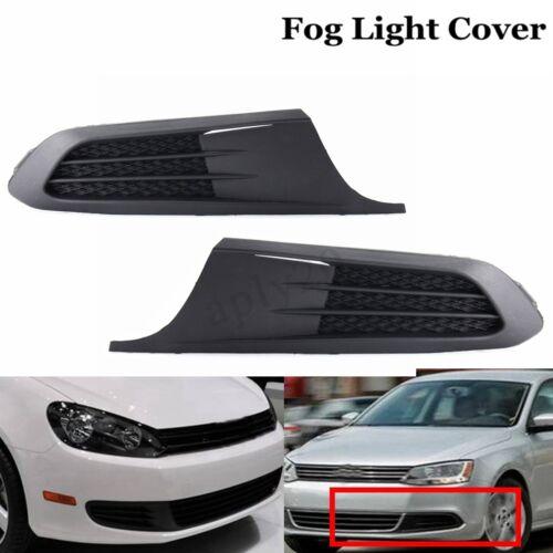 2x Front Bumper Fog Light Cover Insert Bezel For VW JETTA 2011-2014 VW1039119