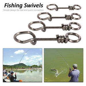 50-100Pcs-Carp-Fishing-Clip-Swivel-Snap-Link-Quick-Change-Connector-Tackle-Hook