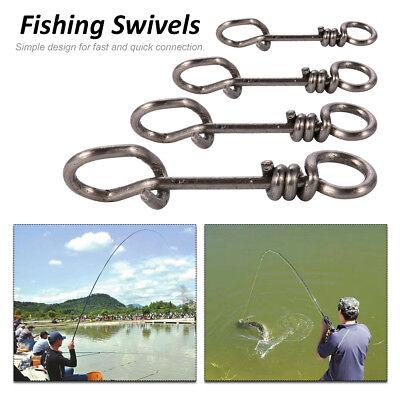 50//100PCS Carp Fishing Link Quick Change Clip Swivel Snap Connector Hook Tackle