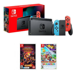 Nintendo-Switch-Console-Paper-Mario-The-Origami-King-Minecraft-Dungeons