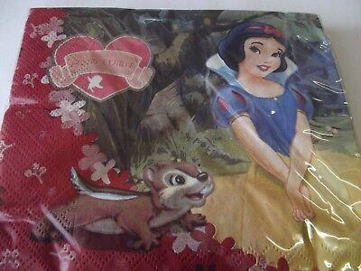 Snow White Napkins Pack of 20