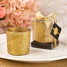 24 gold glitter candle votive wedding favors Bridal Shower Favor