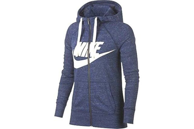 Nike sz XS Women's Gym VINTAGE LOOK Full Zip Hoodie Jacket NEW 909097 429 Blue