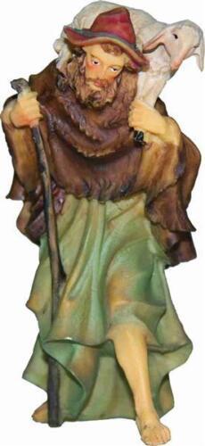 Mathias Krippen Krippenfiguren Hirte mit Stab und Schaf  Größe ca.7cm