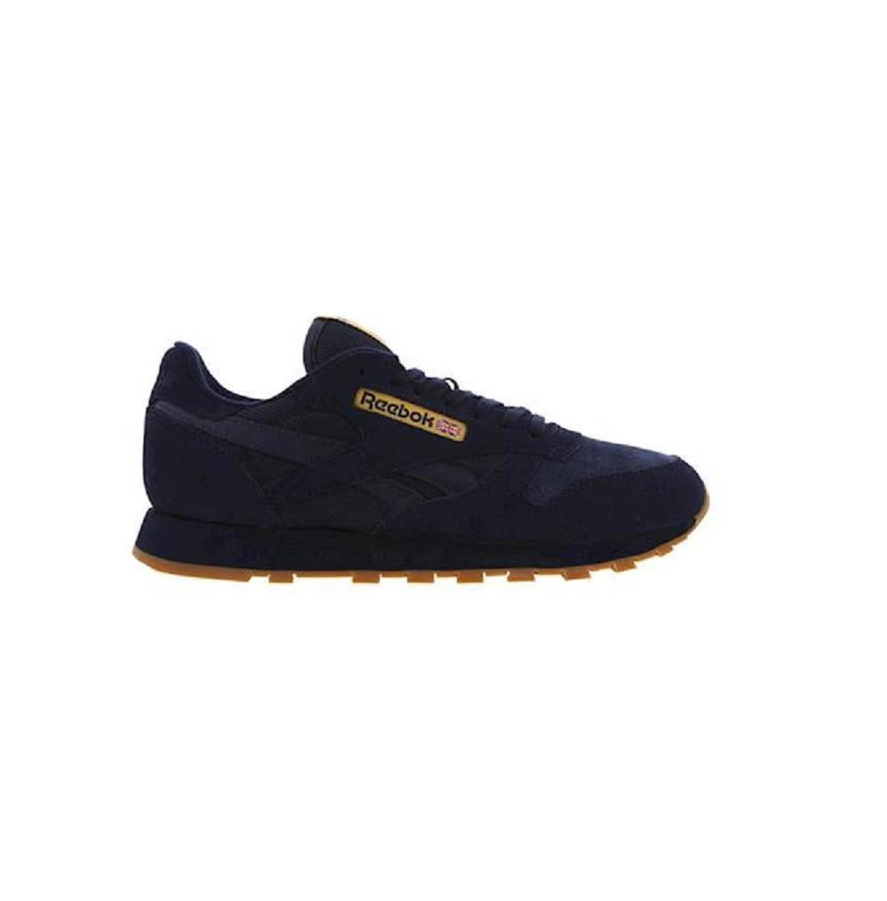 Mens REEBOK CL LEATHER WG Navy bluee Trainers BD3631