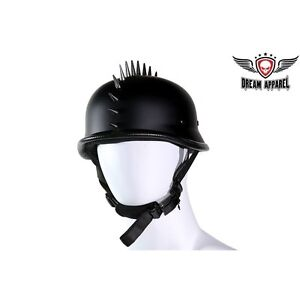 German Shiny Black Novelty Helmet with 1 Chrome Spike Great Deal New